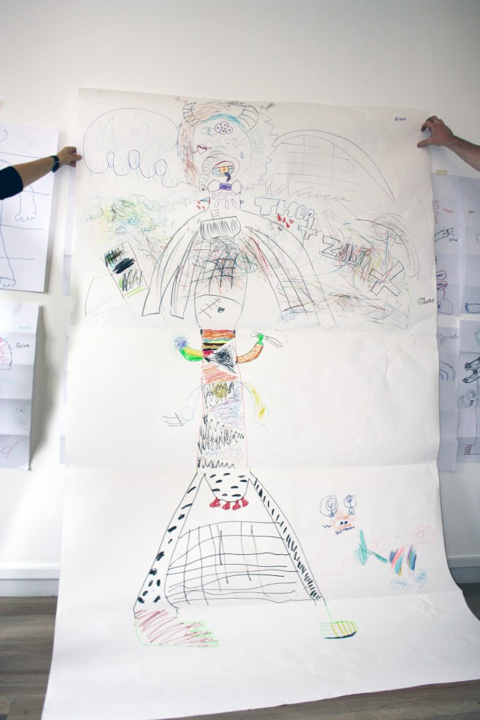 exquisite corpse from the drawing workshop